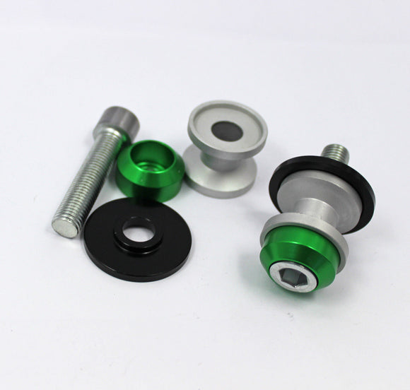 10MM CNC Green Swingarm Spools Set For Kawasaki ZX9R 98-03 98 99 00 01 02 03 AU