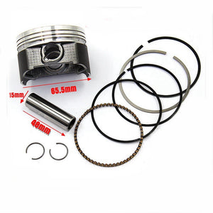 65.5mm 15mm Pin Piston Ring Kit ZHONGSHEN CG250cc Engine PIT Quad DIRT BIKE ATV