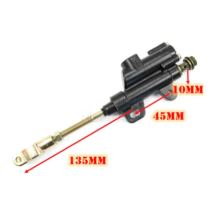 10mm Rear Brake Master Cylinder for 50/70/90/110/125/150/200cc Dirt Pit Pro Bike ATV Quad Thumpstar Atomik DHZ