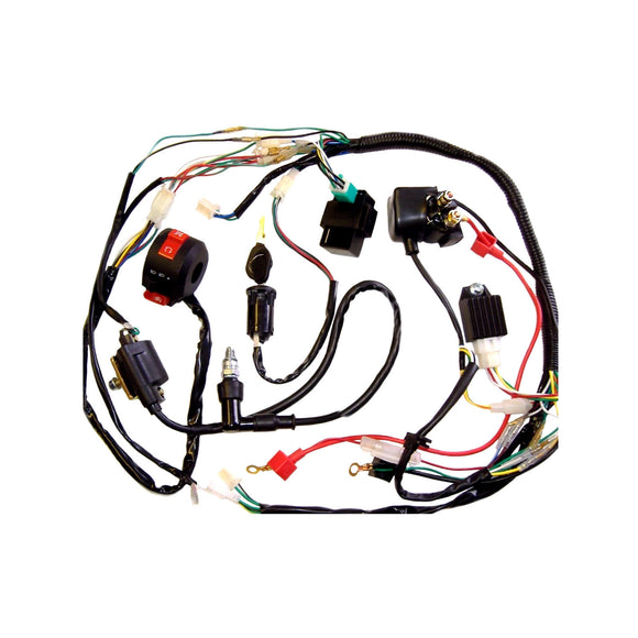 Full Electrics wiring harness coil CDI 50/70/110cc atv quad bike Buggy go kart