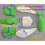 KLX110 Style Plastic Fender Kit for 125cc 140cc 150cc 160cc Atomik Reign Bigfoot