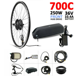 250W Hub 700c 36V 10.4AH EBike Motor EBicycle Electric Bike Conversion eBike Kit