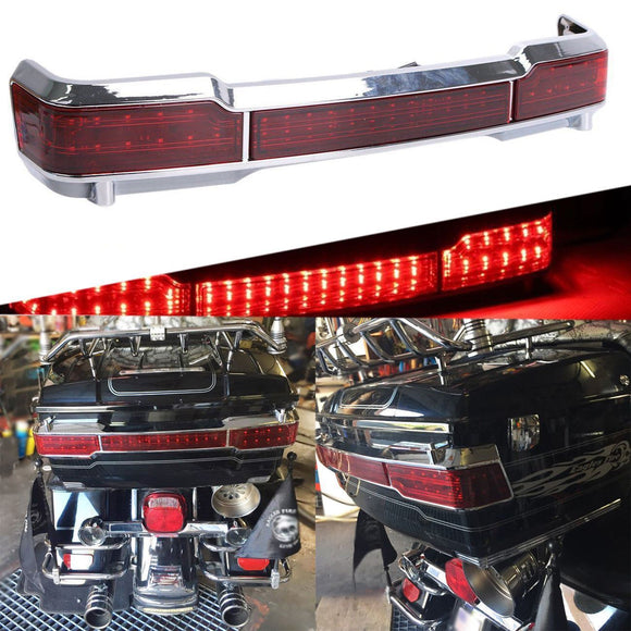 Chrome Wrap Around LED Rear Brake Tail Light Fits Classic Ultra King Tour Pack