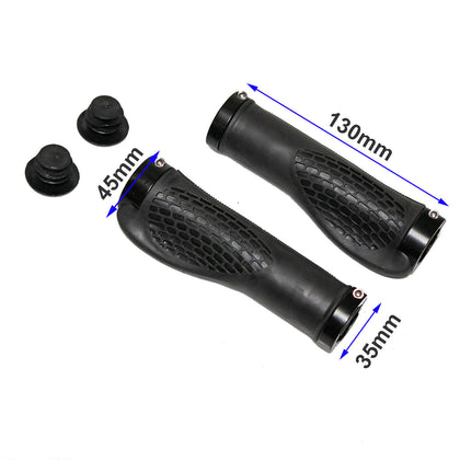 Pair of Ergonomic MTB Mountain Bike Bicycle Handlebar Hand Bar End Rubber Grips