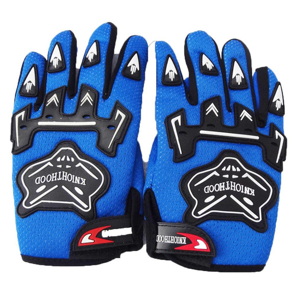 YOUTH MOTORBIKE RACING GLOVES - Blue, L
