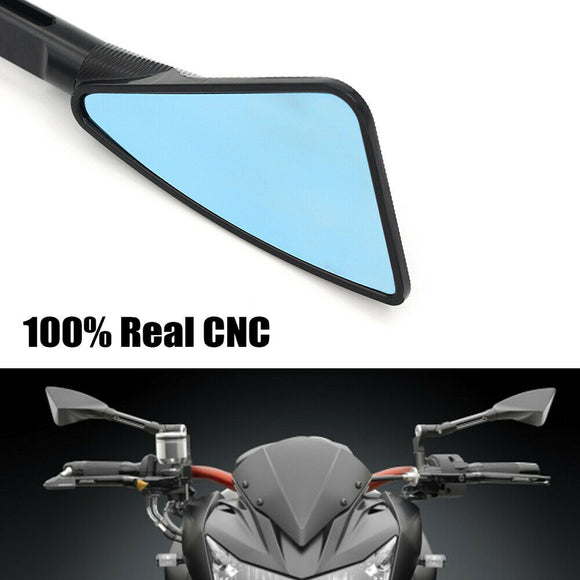 CNC Aluminum Motorcycle Rearview Mirrors Blue Glass For Yamaha MT09 MT07