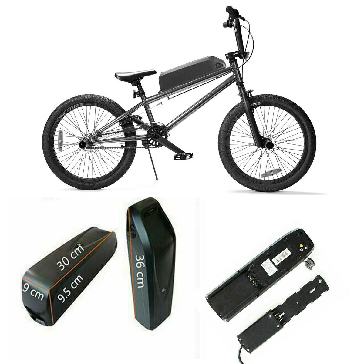 "36V 10AH 350W 20"" Front Wheel Electric Bike Conversion Kit"