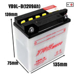 12V 9AH Battery for 150cc 200cc 250CC ATV QUAD Dirt Gokart 4 Wheeler Buggy Bike