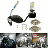 Headlight H4 H6 35 LED Light Bulb Headlamp For Harley Yamaha Kawasaki Motorcycle