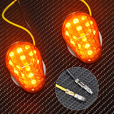 2X Flush Mount LED Turn Signal Light Indicators Blinker For Kawasaki Motorcycle