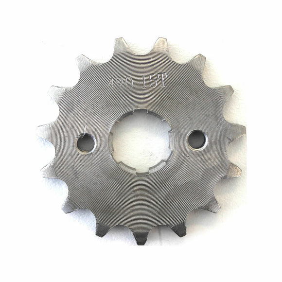 15T 420 chain Front Sprocket cog 20mm Shaft Pit/Trail/Dirt bike ATV Quad bike