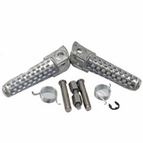 Silver Front Rider's Foot Pegs Footpegs for Honda CBR 600 / 1000 RR Motorcycle
