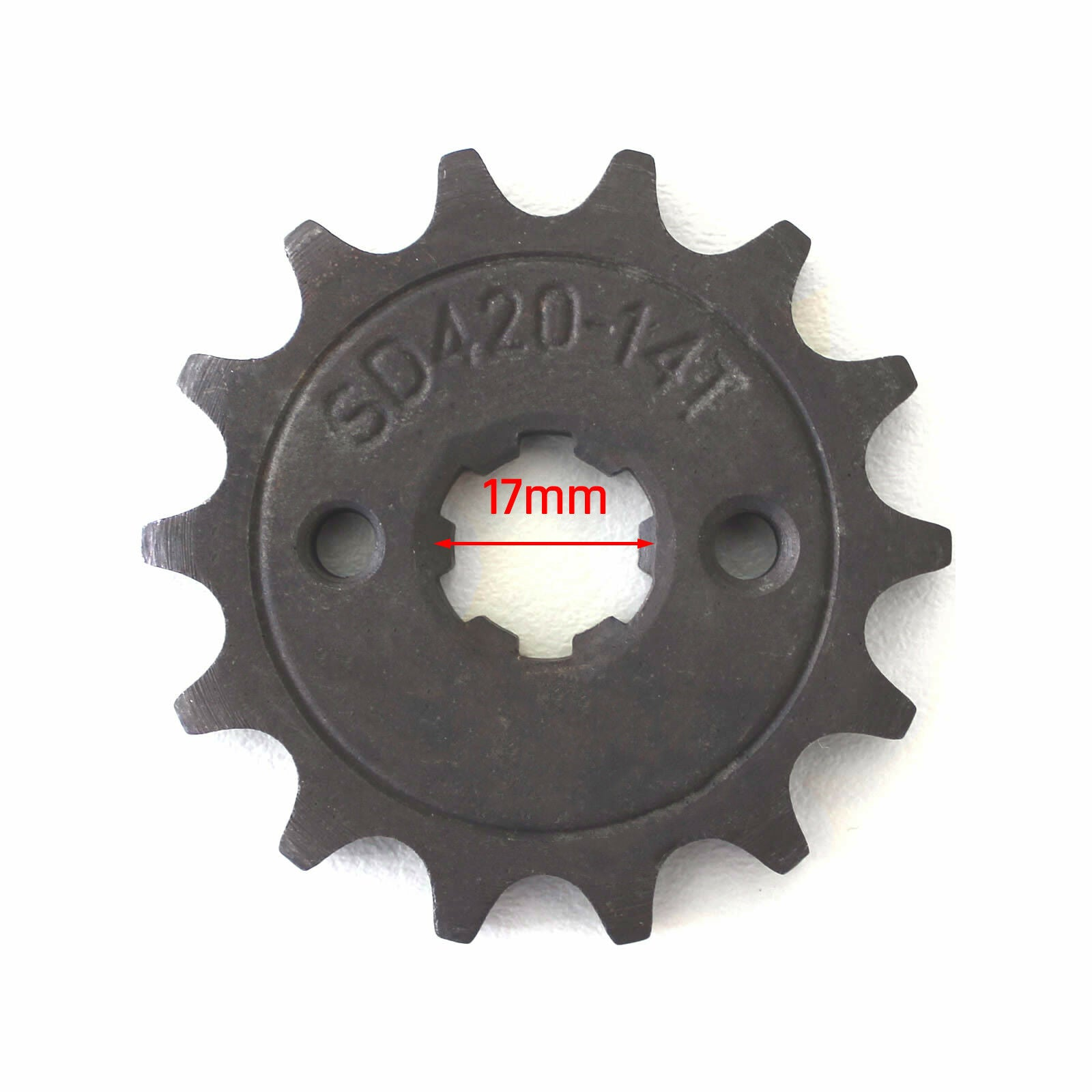 17mm shaft 14T 420 Front sprocket cog for 110cc 125cc Pit trail Dirtbike ATV