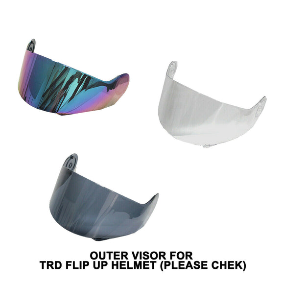 Outer Visor Len for TDRMOTO TDR Full Face FlipUp Motorcycle HELMET -PLEASE CHECK