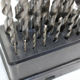 19pc Metric HSS DIN 388 RN Jobber Drill Bit M1.0 to M10 for Metal Aluminium Wood