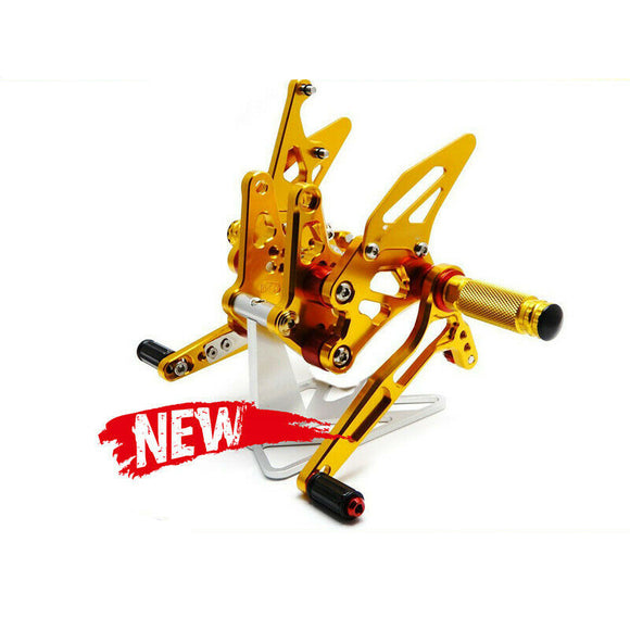 Gold Rearset Footrest For Suzuki GSXR 1300 2008 - 2017 Footpeg 09 10 11 12 13
