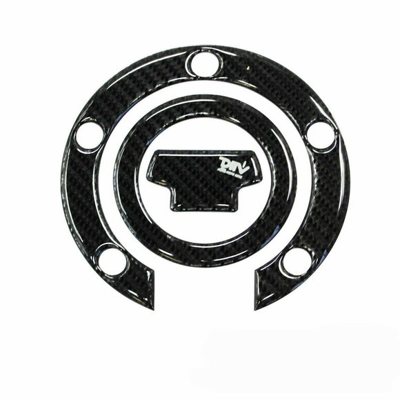 Carbon Fiber Fuel Gas Cap Pad Sticker Decal For Yamaha YZF R6 R1 R6S 2001-2011