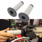 Grey Black Motorcycle Motocross Rubber Hand grips Dirtbike Enduro Pro Grip AU