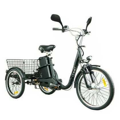 TDR Black Electric Tricycle 48V 250W 10AH with Basket