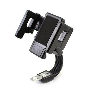 Scooter Bicycle Rearview Mirror Mount Cell Phone GPS Holder Universal