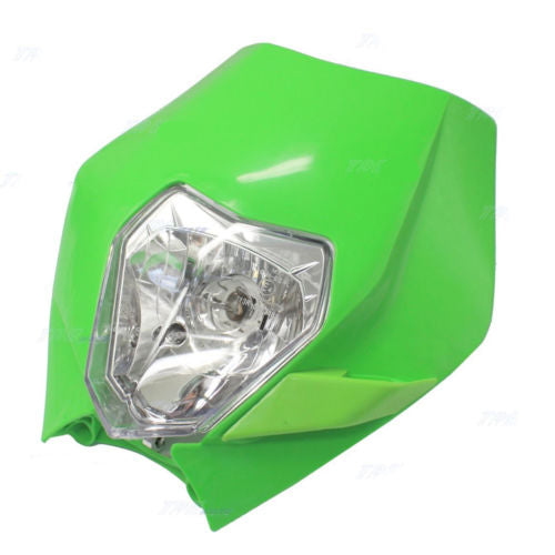 Green Rec Reg Head Lamp Light Recreation Dirt Trail Pitpro Motorcycle Bike KTM