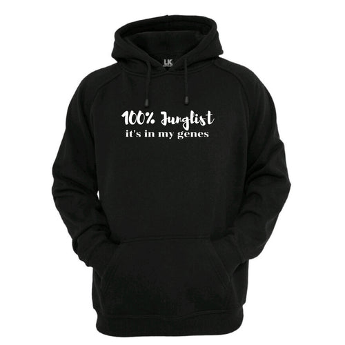 100% Junglist It's In My Genes Hoodie Mens Womens