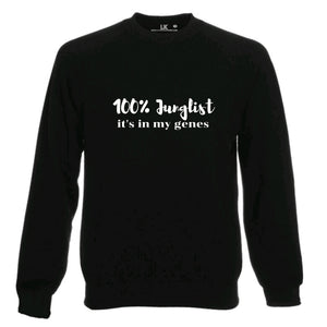 100% Junglist It's In My Genes Ladies Mens Jumper