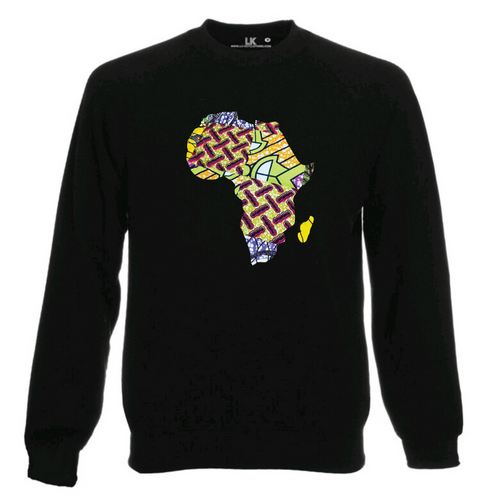 Colourful Pattern Africa Map Sweatshirt