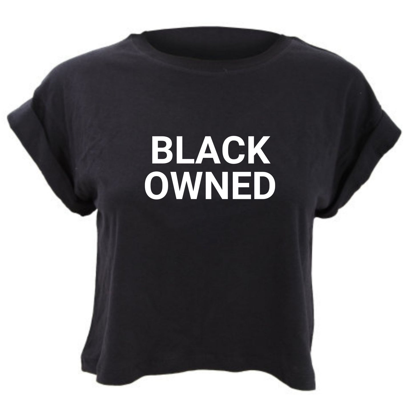 Black Owned  cropped tee