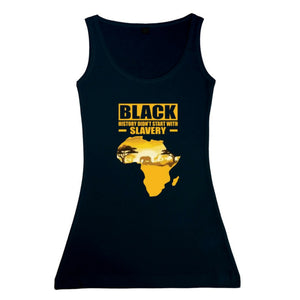 Women's Black History Vest Tank Top