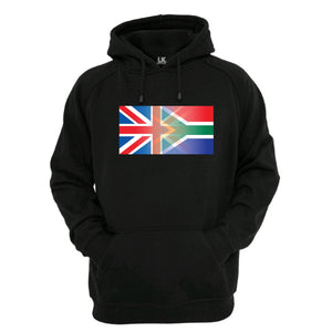 England and South Africa Mixed Heritage Flag Hoodie
