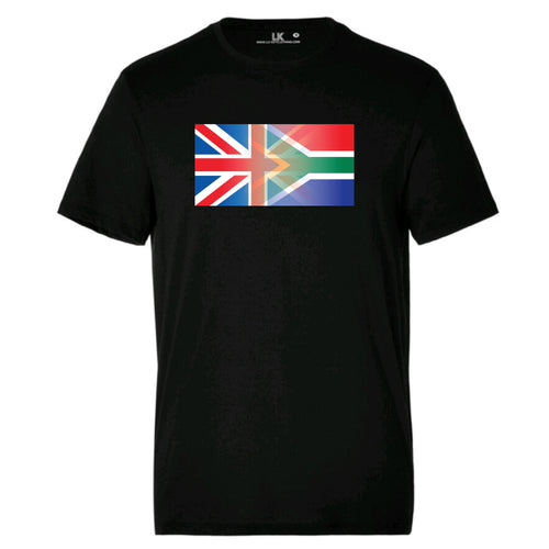 Children's England & South Africa Mixed Heritage Flag TShirt