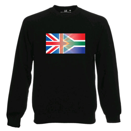England and South Africa Mixed Heritage Flag Sweatshirt