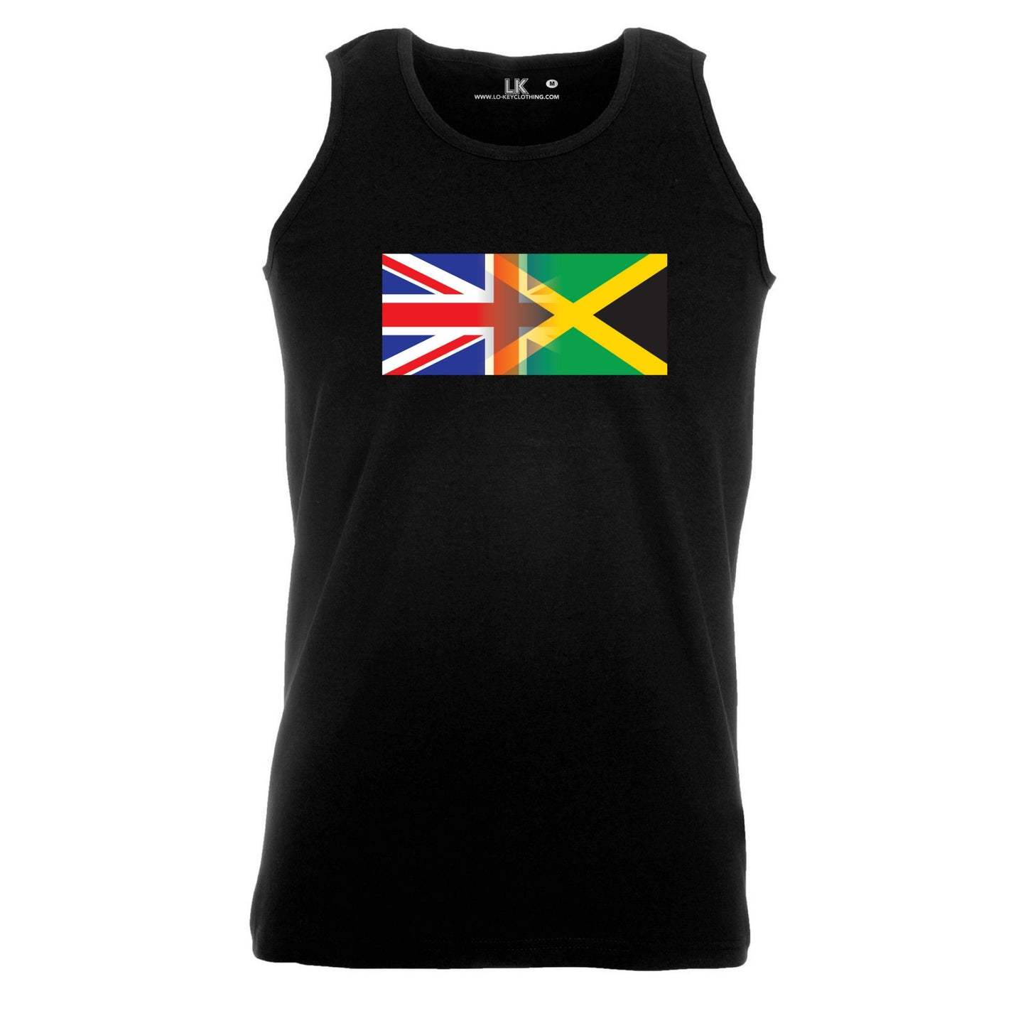 Men's Personalise Mixed Heritage Flag Tank Top Vest