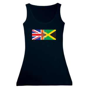 Ladies England and Jamaican Mixed Heritage Flag Vest Tank Top