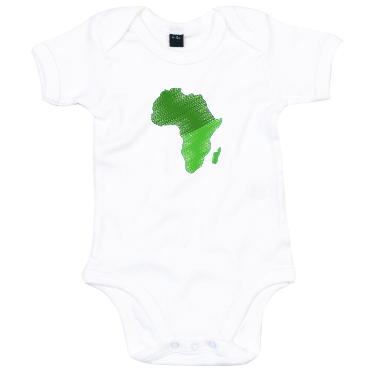 African Map Heritage Babygrow | Green Africa