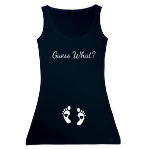 Ladies Guess What? Vest Tank Top Gender Reveal