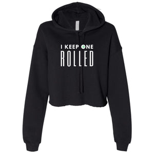 Ladies I Keep One Rolled Cropped Hooded Sweater