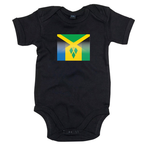 Jamaica and St Vincent Mixed Heritage Flag Babygrow