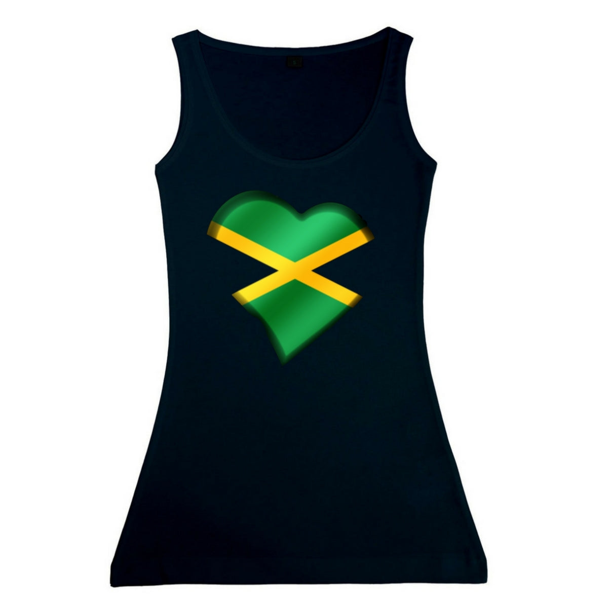 Women's Jamaican Heart Vest Tank Top
