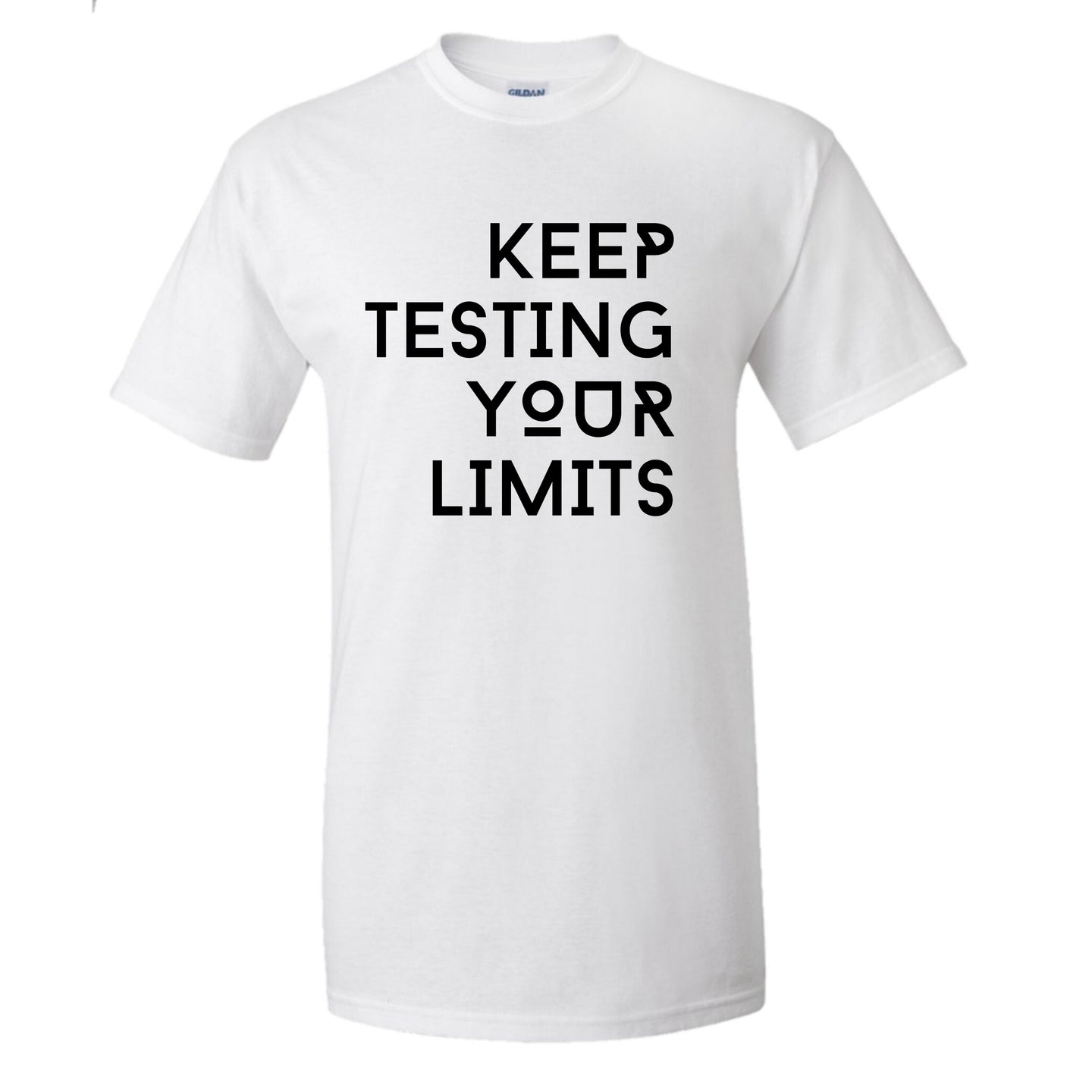 Keep Testing Your Limits TSHIRT MENS WHITE