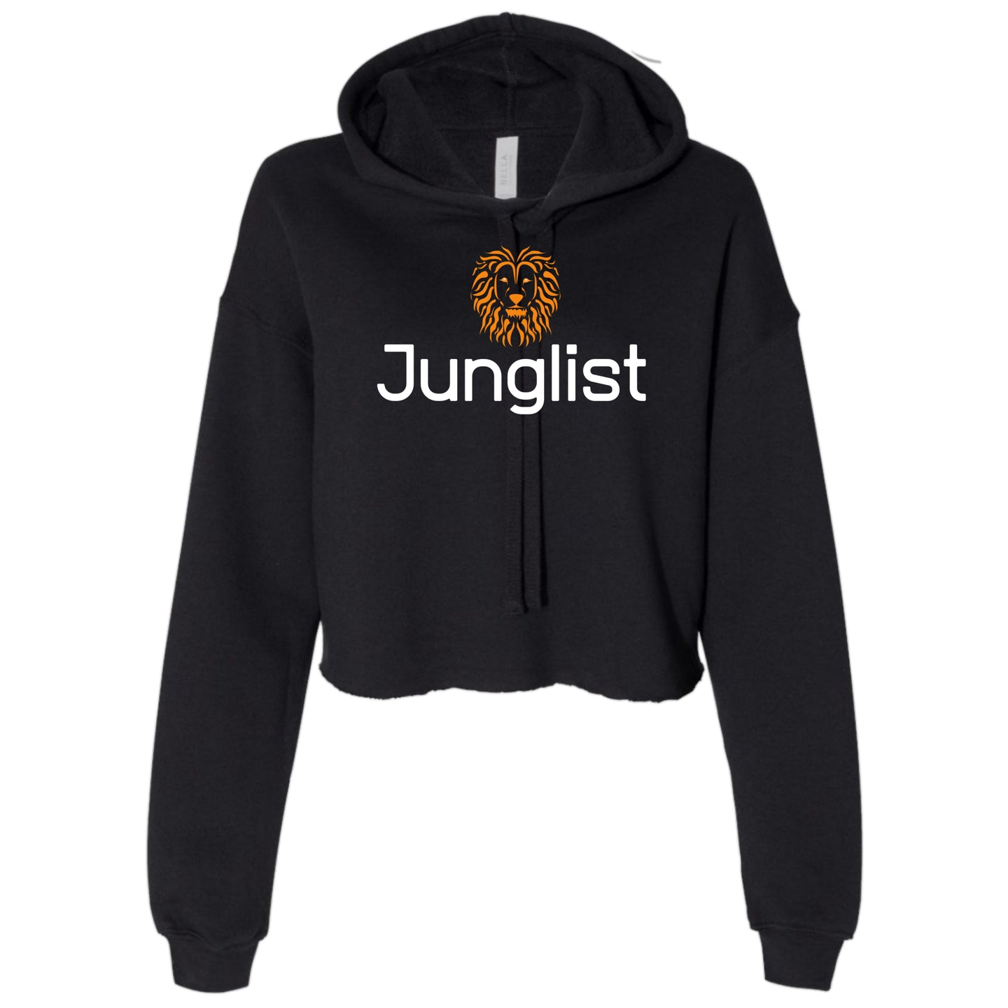 Ladies Lion Junglist Cropped Hooded Sweater