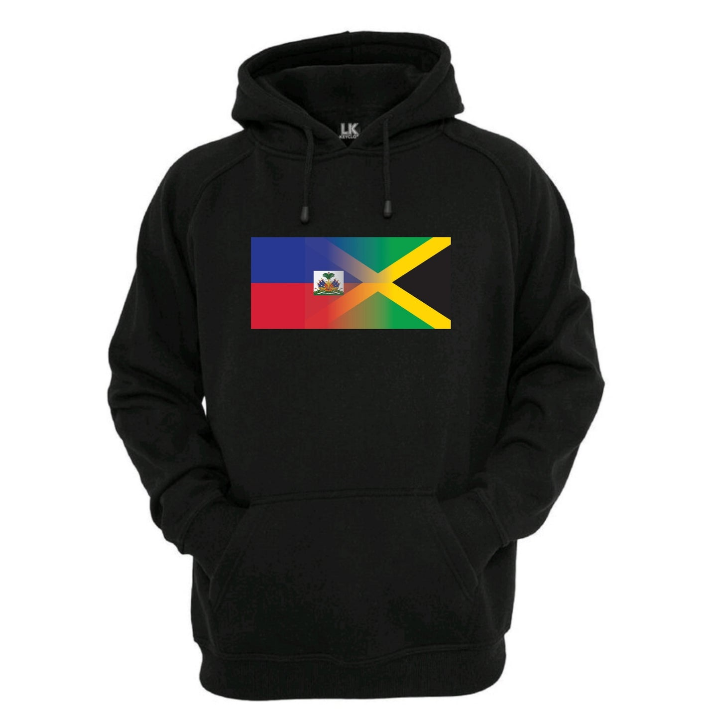 Haitian and Jamaica Flag Blend HOODIE