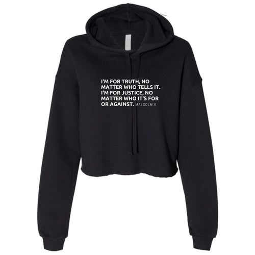 Ladies Malcolm X Cropped Hooded Sweater