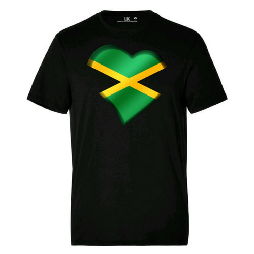 Men's Jamaican Heart TShirt
