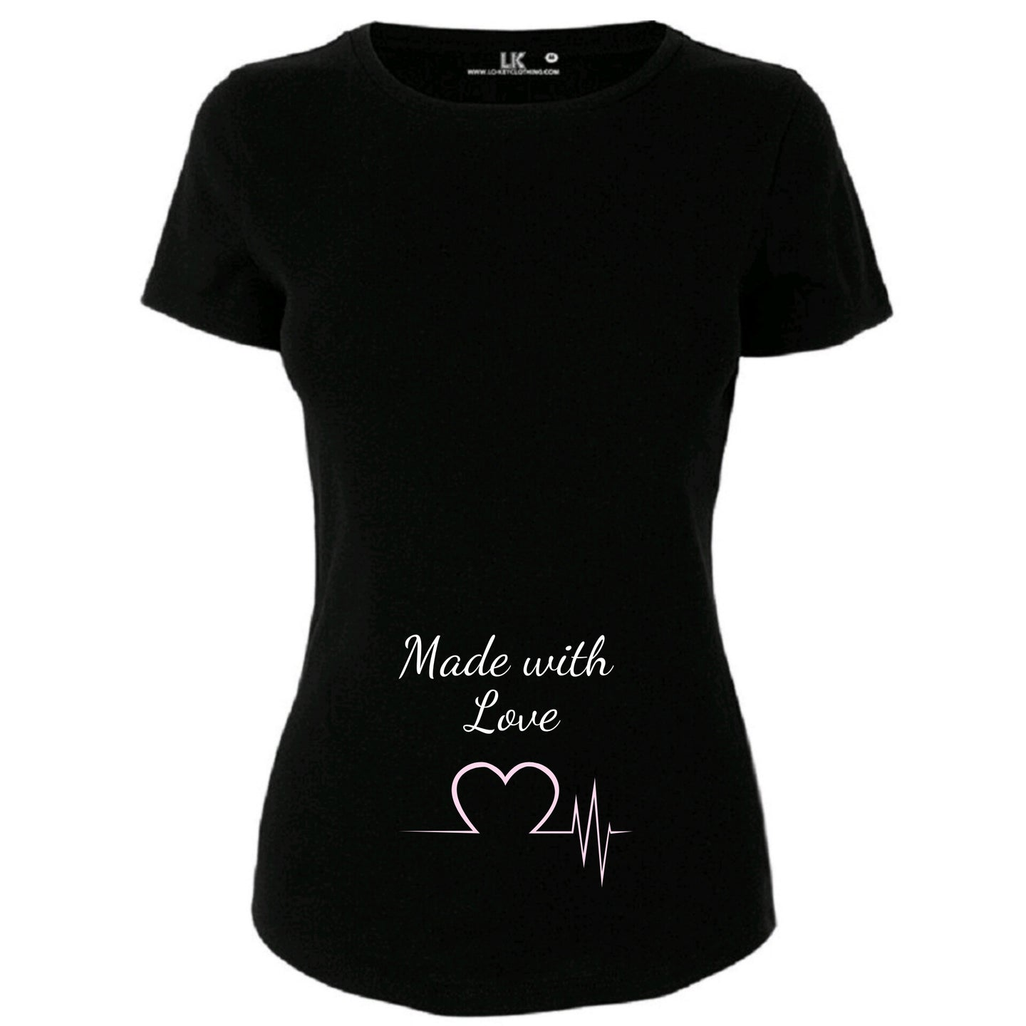Ladies Made With Love T/Shirt Gender Reveal