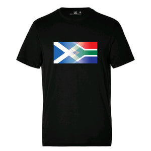 Men's Scotland and South Africa Mixed Heritage Flag T/Shirt