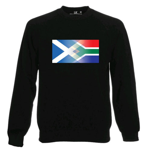 Scotland and South Africa Flag Blend Sweatshirt
