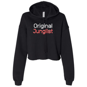 Ladies Original Junglist Cropped Hooded Sweater