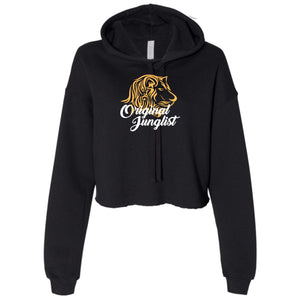 Ladies Original Junglist Lion Cropped Hooded Sweater
